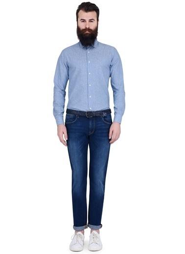 Uzun Kollu Slim Fit Gömlek-Lufian